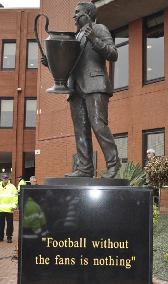 the Jock Stein memorial bronze statue cast at the John McKenna a4a art for architecture studio bronze foundry, Ayrshire, Scotland