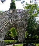 palfrey horse park public art sculpture fabricated stainless steel