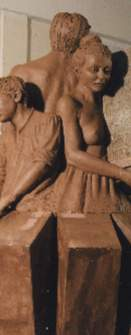 Droitwich Saltworkers family sculpture figurative tradition
